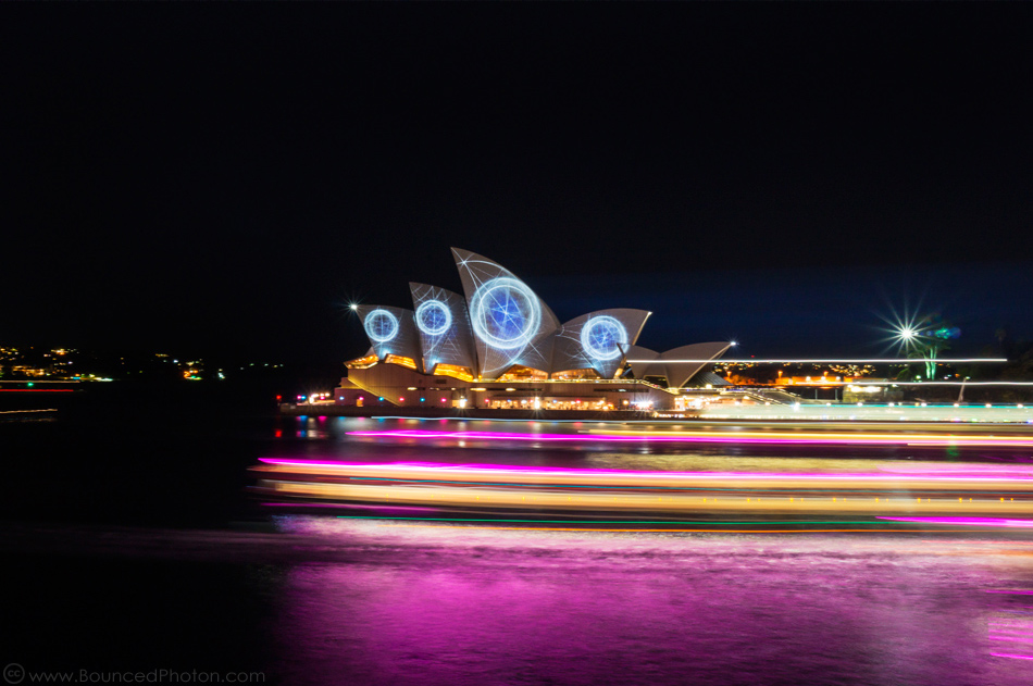 The Sydney Opera House pictured at night during Vivid Sydney Festival in 2014