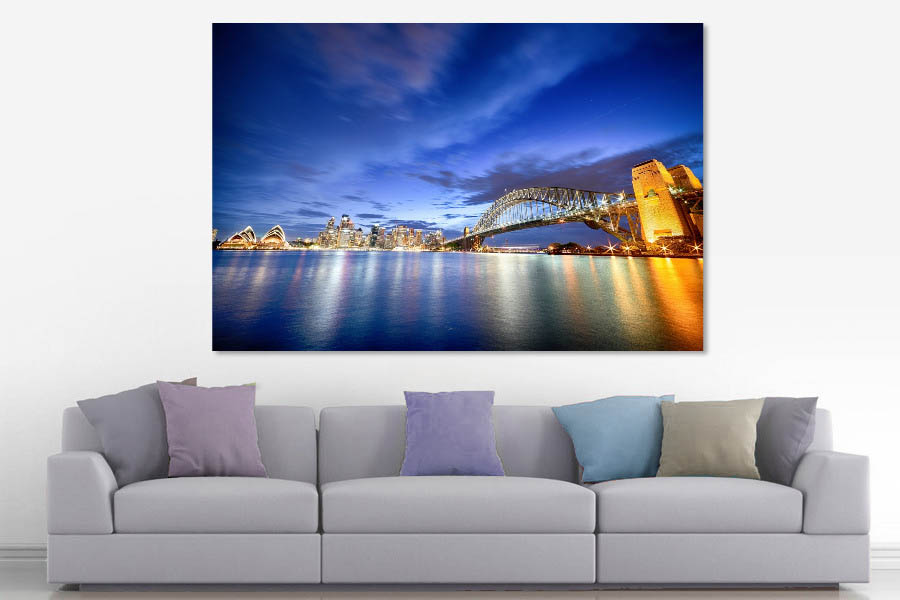 Sydney skyline at blue hour