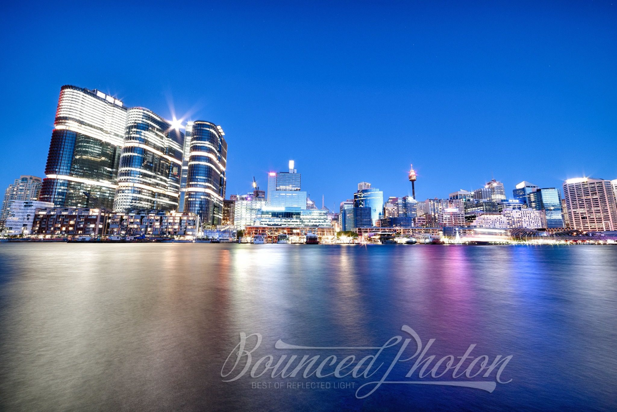 Moonrise Over Barangaroo, Sydney, Australia