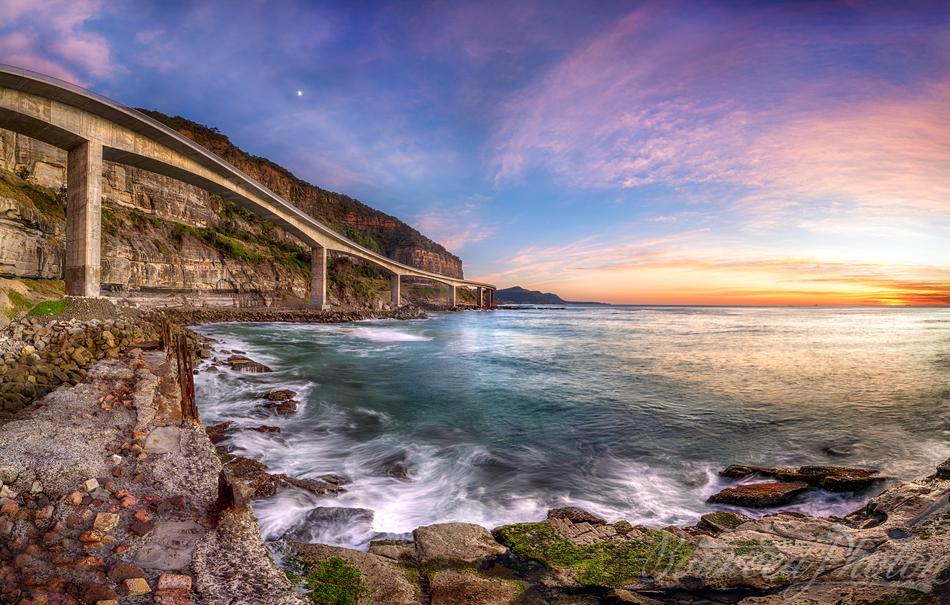 Sea Cliff Bridge at Dawn