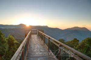 Sunrise at the Dorrigo Skywalk, Australia